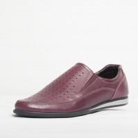 Pantof sport piele naturala Culoare: visiniu de la Vicoveanu incaltaminte piele cod:580
