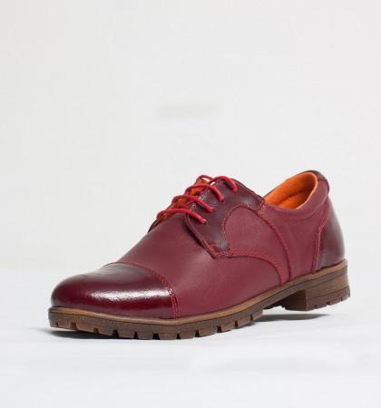 Pantofi dama casual Culoare: rosu de la Vicoveanu incaltaminte piele cod:660