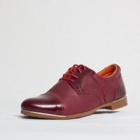 Pantofi dama casual Culoare: rosu de la Vicoveanu incaltaminte piele cod:710