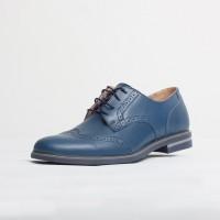 Pantofi elegant piele naturala culoare: albastru de la Vicoveanu incaltaminte piele cod:830