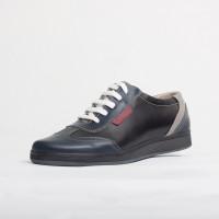 Pantofi sport barbati din piele naturala Culoare: bleau negru si gri de la Vicoveanu incaltaminte piele cod:870