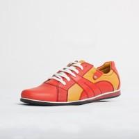 Pantof sport universali Culoare: rosu si crem de la Vicoveanu incaltaminte piele cod:880