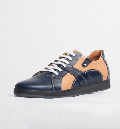 Pantofi sport barbati din piele naturala Culoare: bleau si crem de la Vicoveanu incaltaminte piele cod:890
