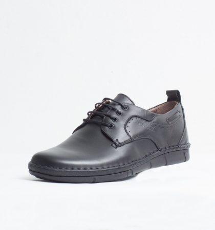 Pantofi Casual piele naturala culoare: negru de la Vicoveanu incaltaminte piele cod:1100