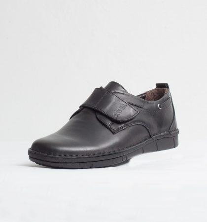 Pantofi casual barbati piele naturala culoare: negru de la Vicoveanu incaltaminte piele cod:1160