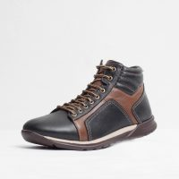 Pantofi sport piele naturala culoare: negru si maro de la Vicoveanu incaltaminte piele cod:1270