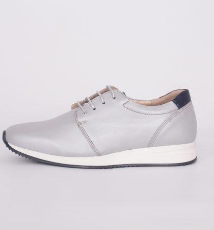 Pantofi din piele pentru femei argintii 1670 (2)