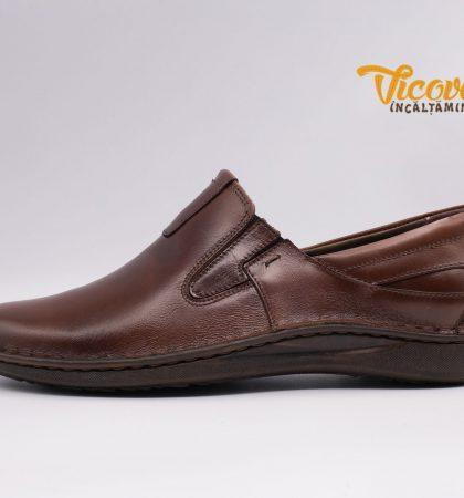 2140 Pantofi maro din piele pentru barbati (1)