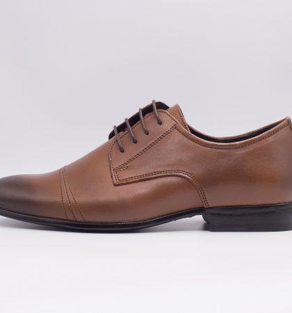 pantofi din piele eleganti, pantofi maro barbati 2470 (3)