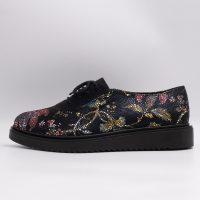 Pantofi din piele de tip croco cu motive florale, cod produs 3090 (2)