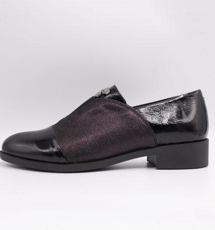 Pantofi din piele lacuita si piele sidefata, cod produs 3050 (5)