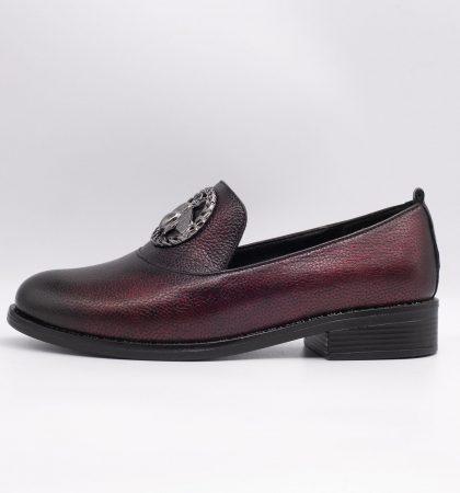 Pantofi eleganti din piele sidefata, cod produs 3040 (3)