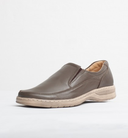 Pantofi casual piele naturala culoare: maro si crem de la Vicoveanu incaltaminte piele cod:910
