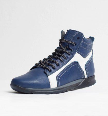 Pantofi sport piele naturala culoare: alb si albastru de la Vicoveanu incaltaminte piele cod:1230